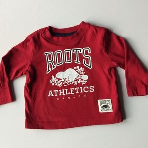 Roots Canada Red Long Sleeved Shirt * 6-12M
